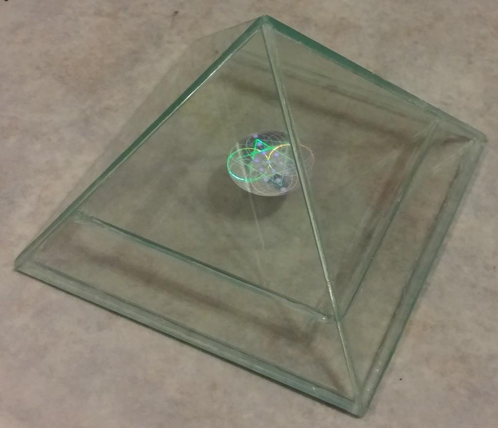 glass hologram pyramid