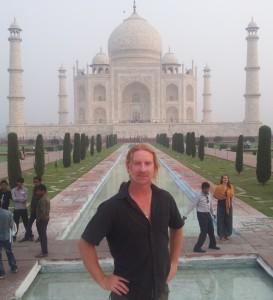 Matt at the Taj Mahal