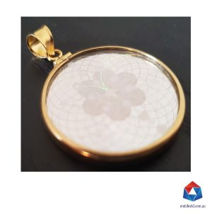 emf shield gold pendant