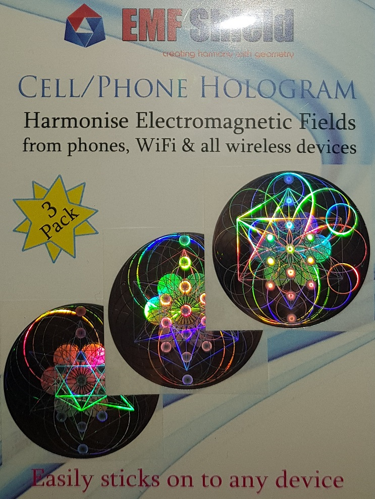 EMF Shield Hologram 3-pack