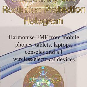 emf shield gold hologram
